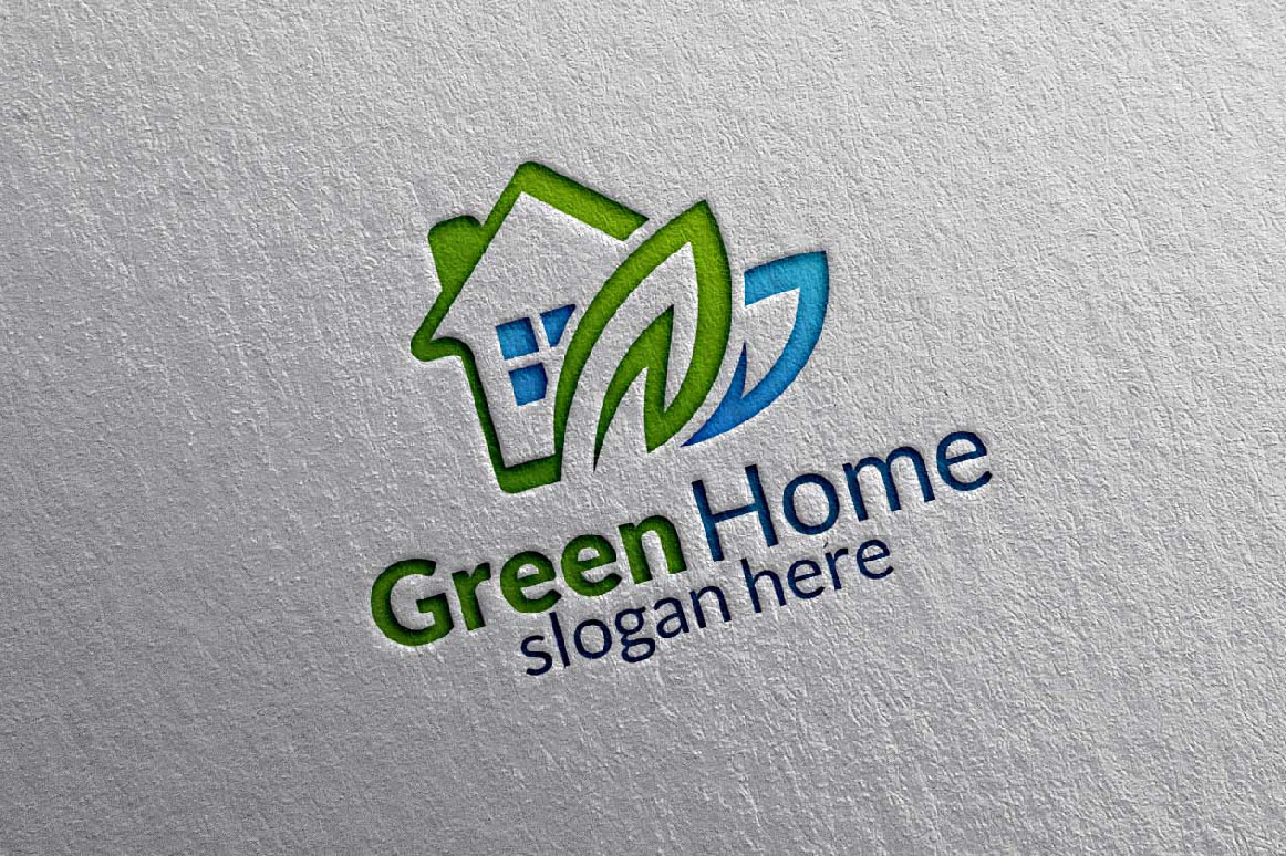Real estate Logo, Green Home Logo 9 example image 6