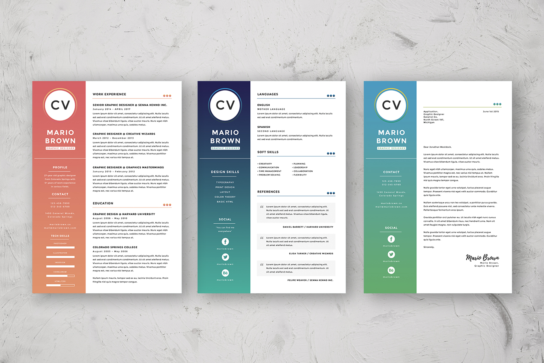 Resume Template 3 pages   CV example image 5