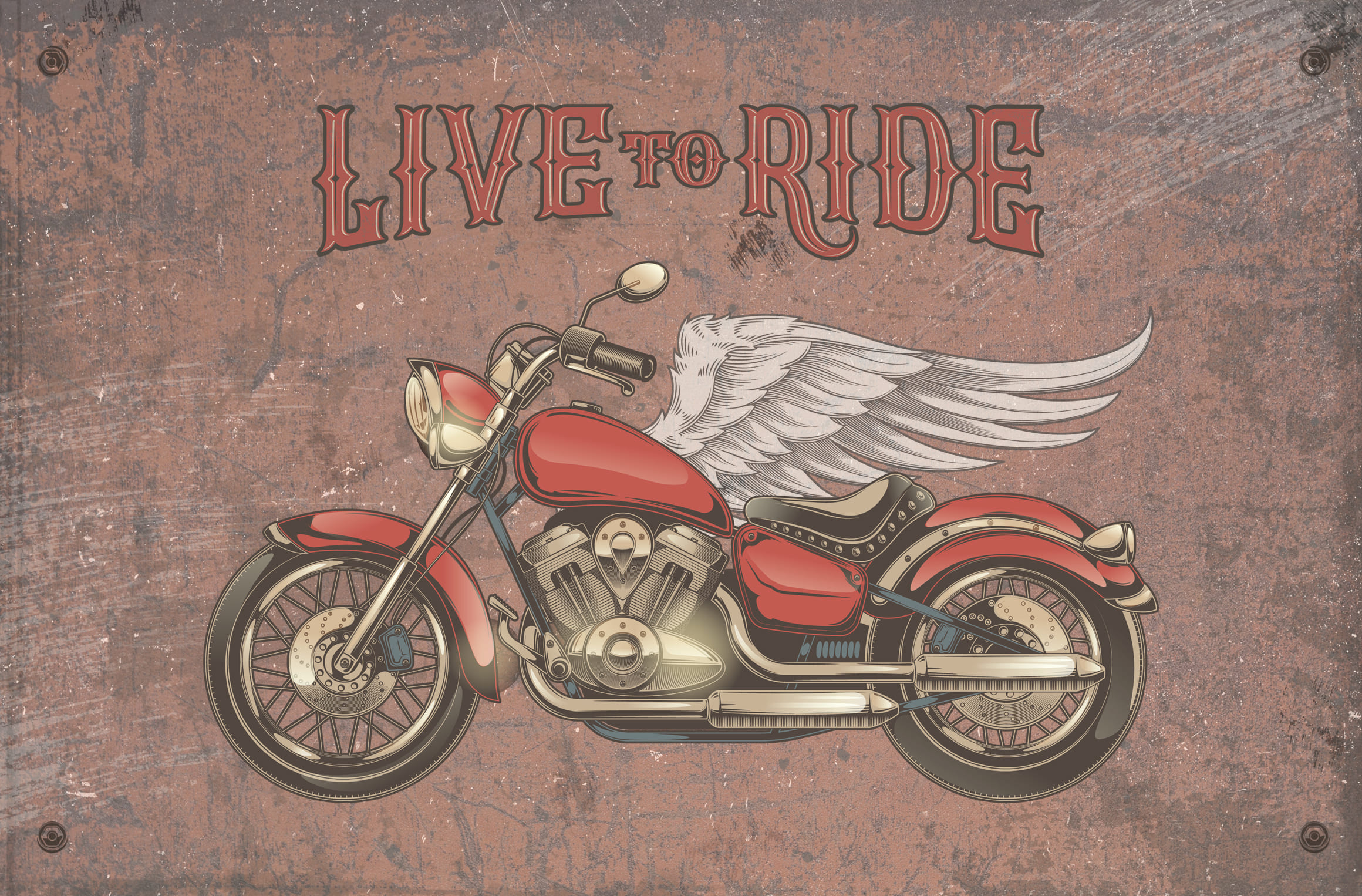 Vintage motorcycle, skulls and labels example image 5