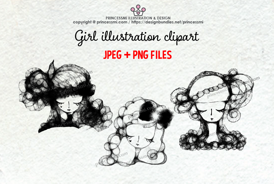 GIRLS illustration clipart 1 example image 1