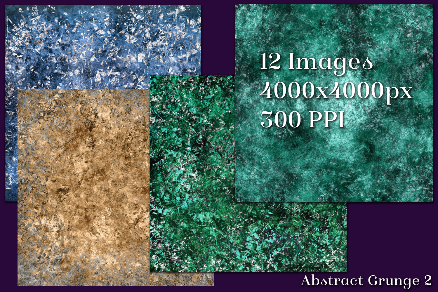 Abstract Grunge 2 Backgrounds - 12 Image Set example image 2