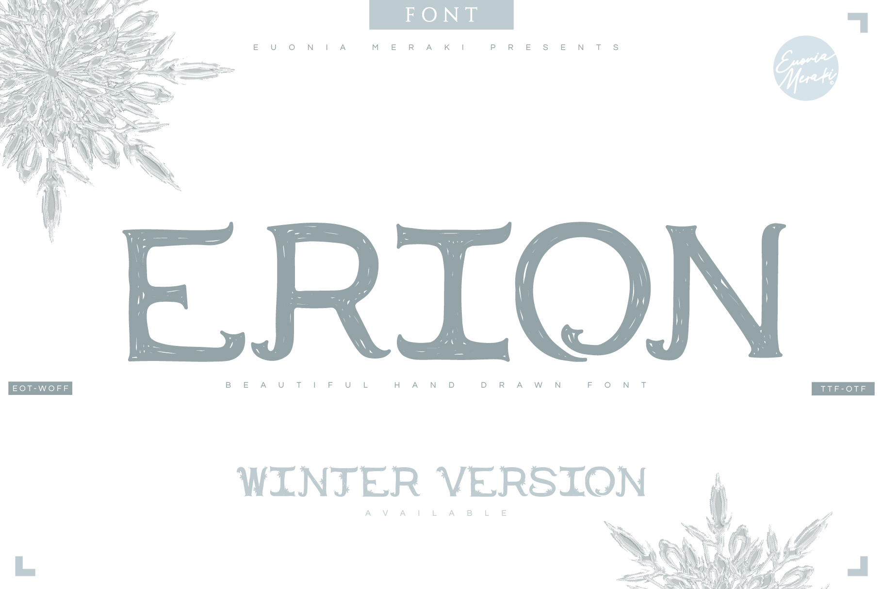 4in1 ERION FONT - Christmas Winter Version example image 1