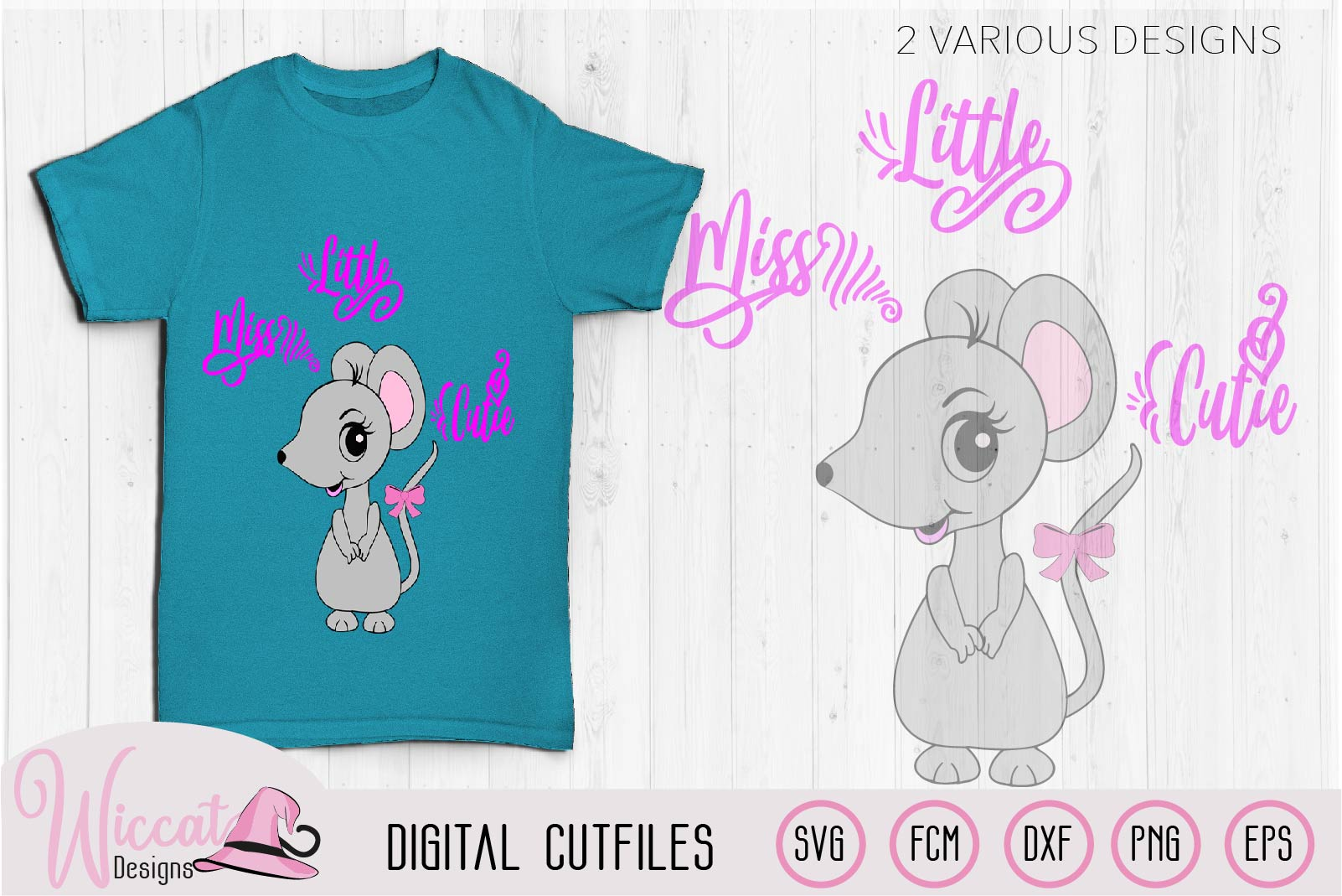 Mouse svg, Little miss cutie quote svg, example image 3