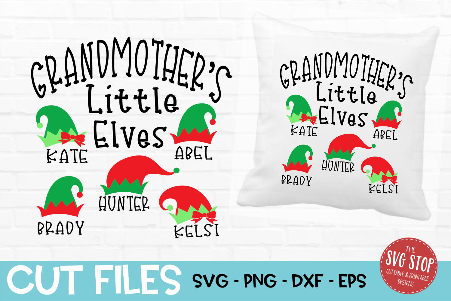 Grandmother Little Elves Christmas SVG, PNG, DXF, EPS example image 1