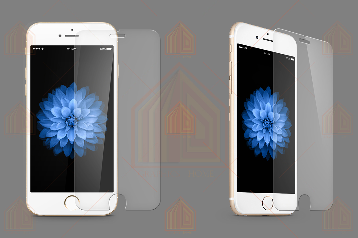 iPhone 6-6s Tempered Glass Template  example image 1