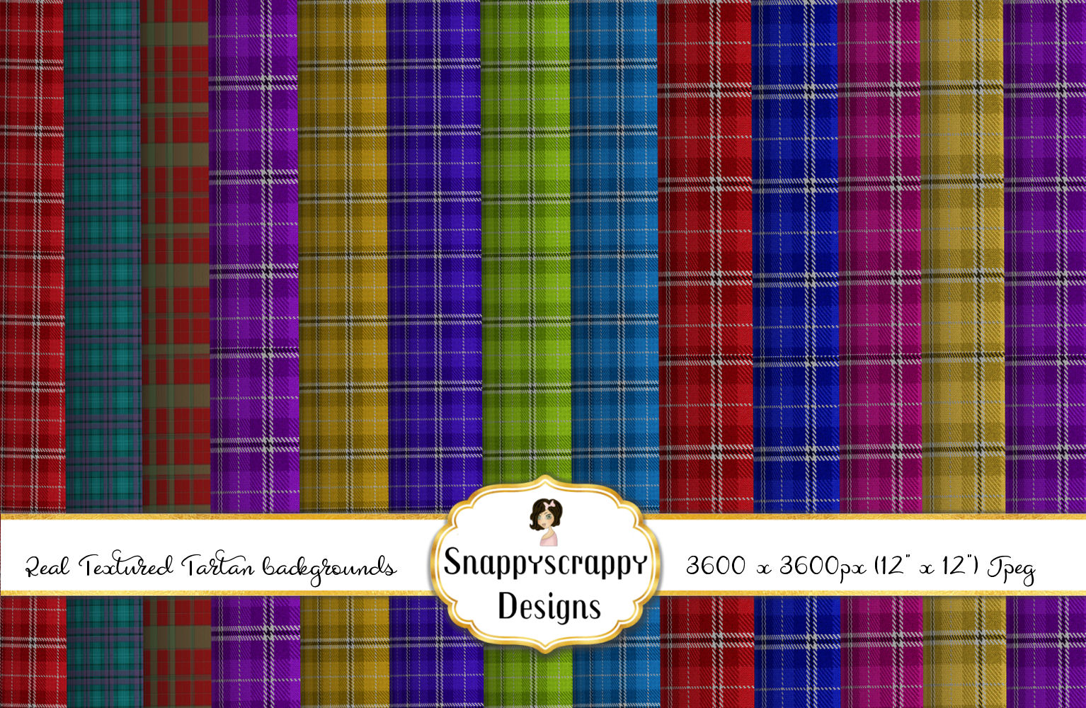 Textured Tartan Background Papers example image 3