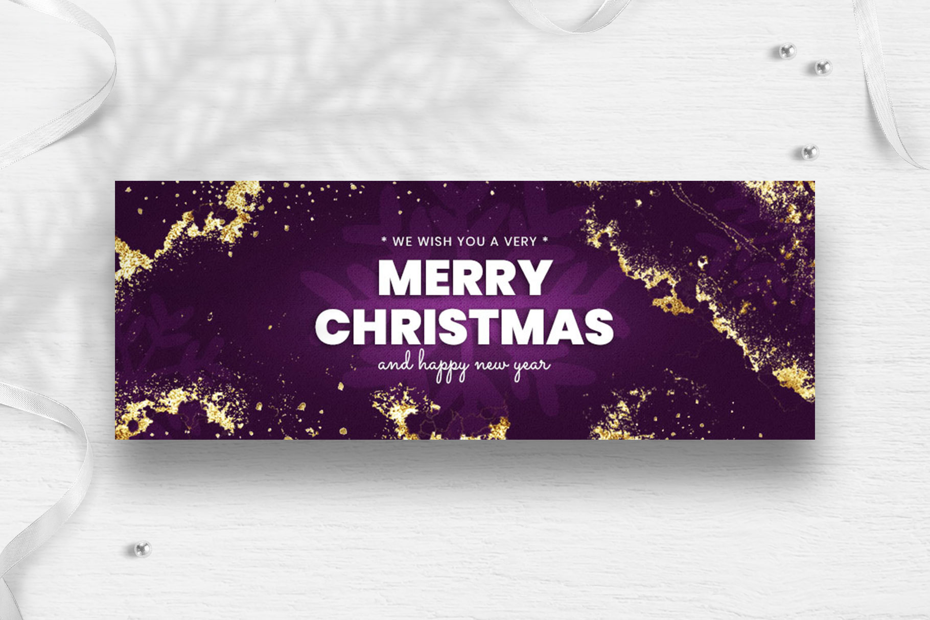 Merry Christmas Facebook Cover Template example image 3