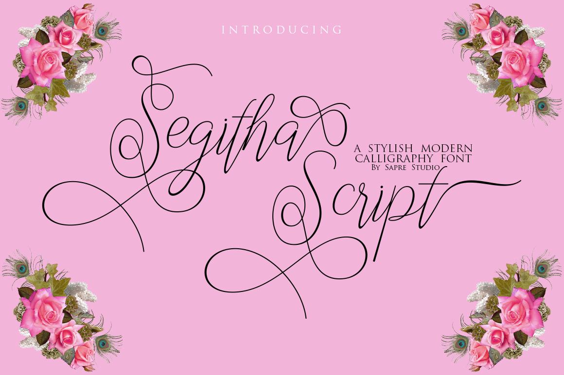 Segitha Script example image 1