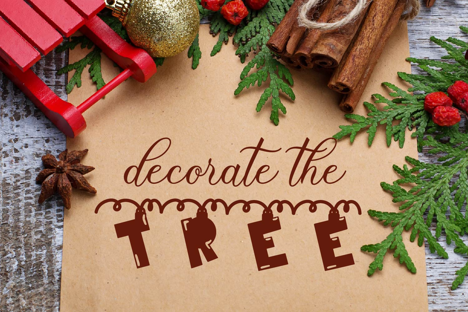 Chime - A Hanging Christmas Ornament Font example image 5