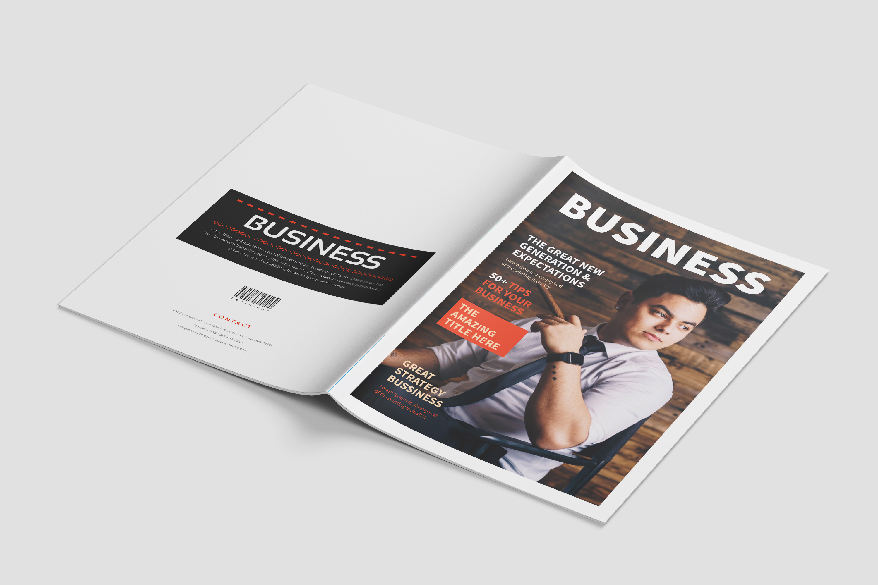 Business Magazine Template example image 11