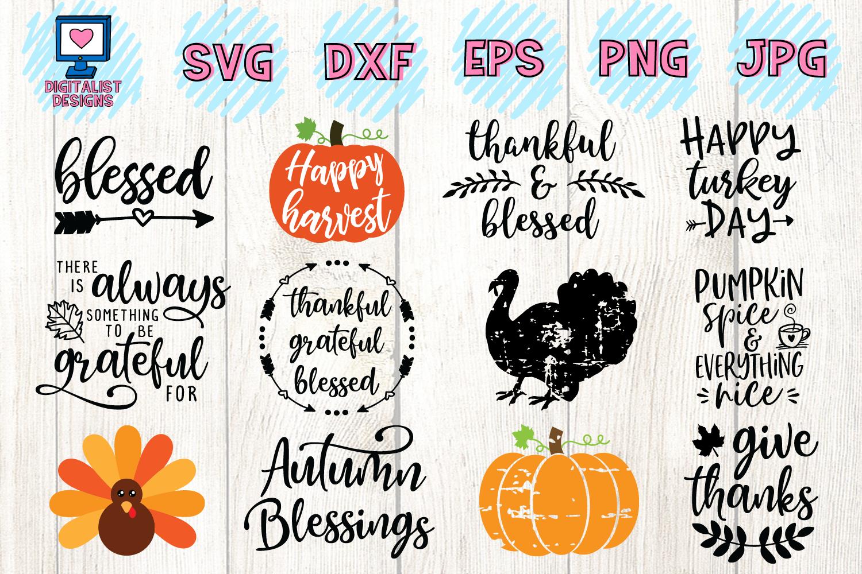 Thanksgiving SVG Bundle | 30 Designs example image 2