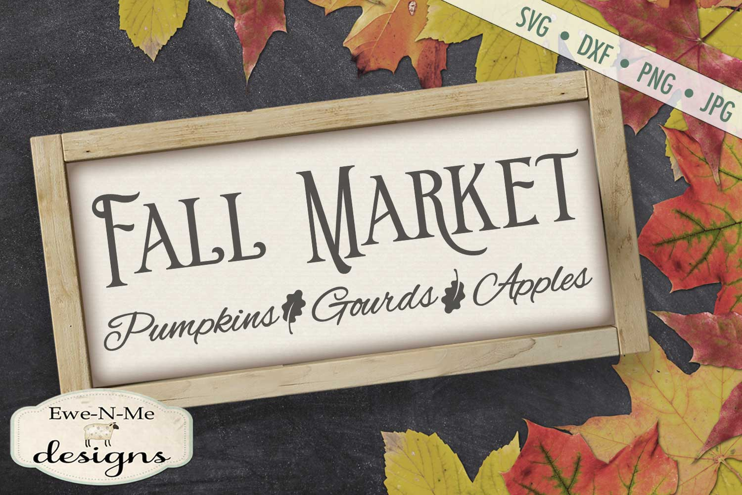 Fall Market - Pumpkins Gourds Apples - Autumn - SVG DXF example image 1