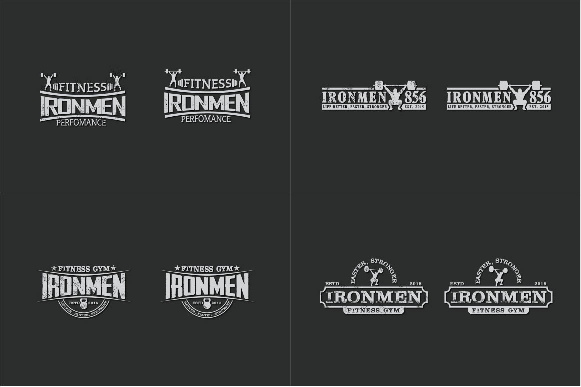 83 fitness gym bundle Logos Labels & Badges example image 8
