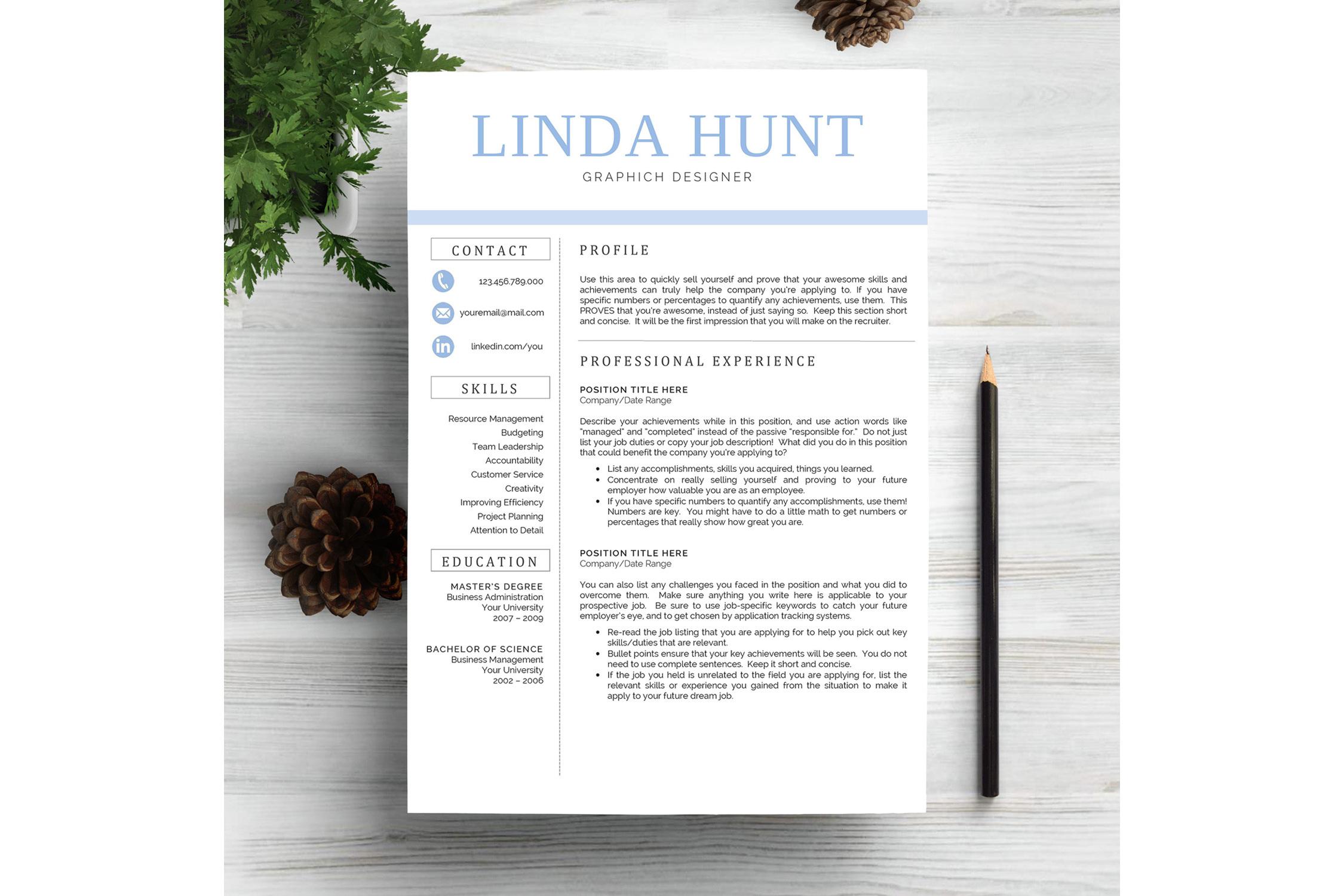 Creative CV Resume Template Word example image 1
