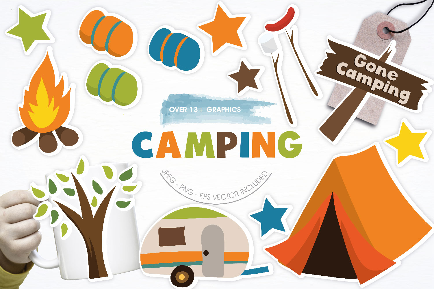 Camping Cute Graphics example image 1