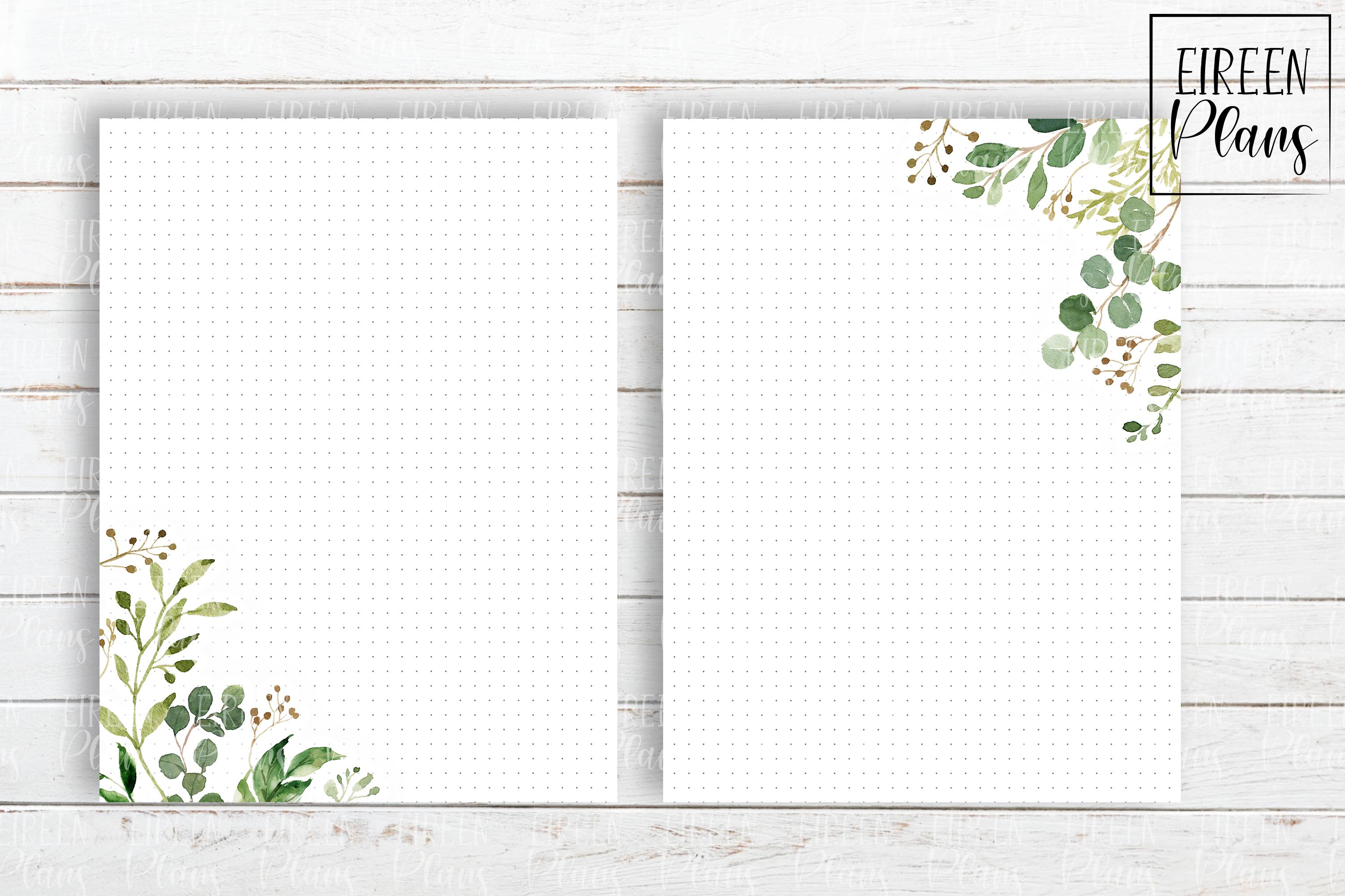 Set of greenery notes for the Classic Happy Planner example image 2