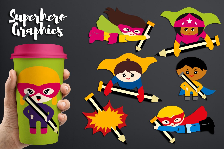 Illustrations Huge Bundle - Superhero Clip Art Graphics example image 24