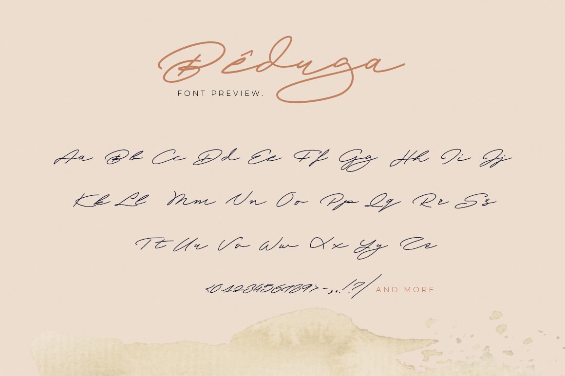 Beduga | Quick Handwritten example image 6