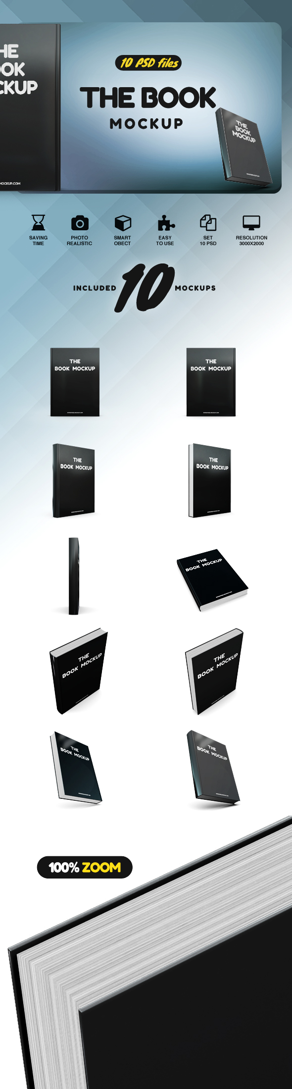 The Book Mockup example image 2