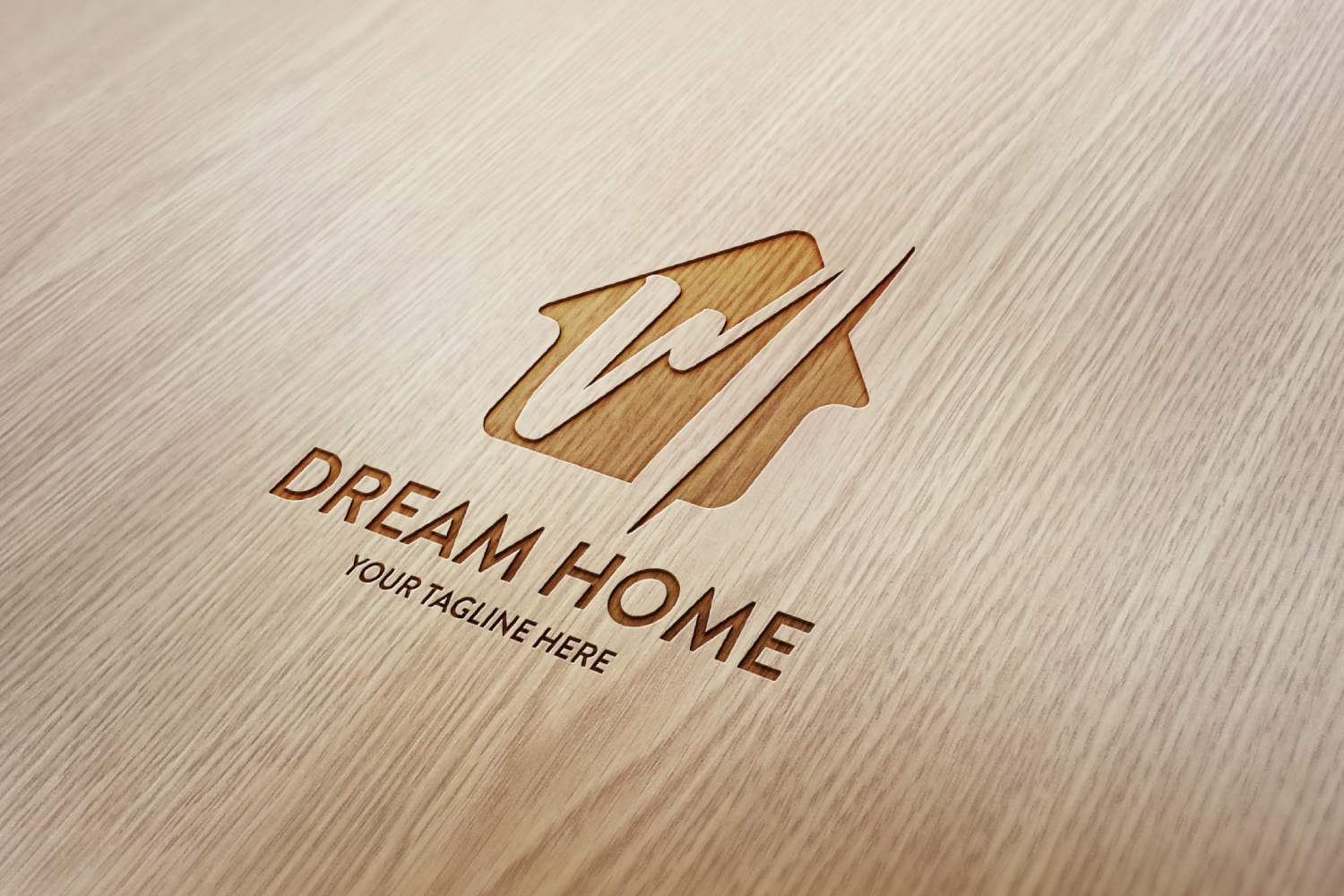M letter house logo example image 2
