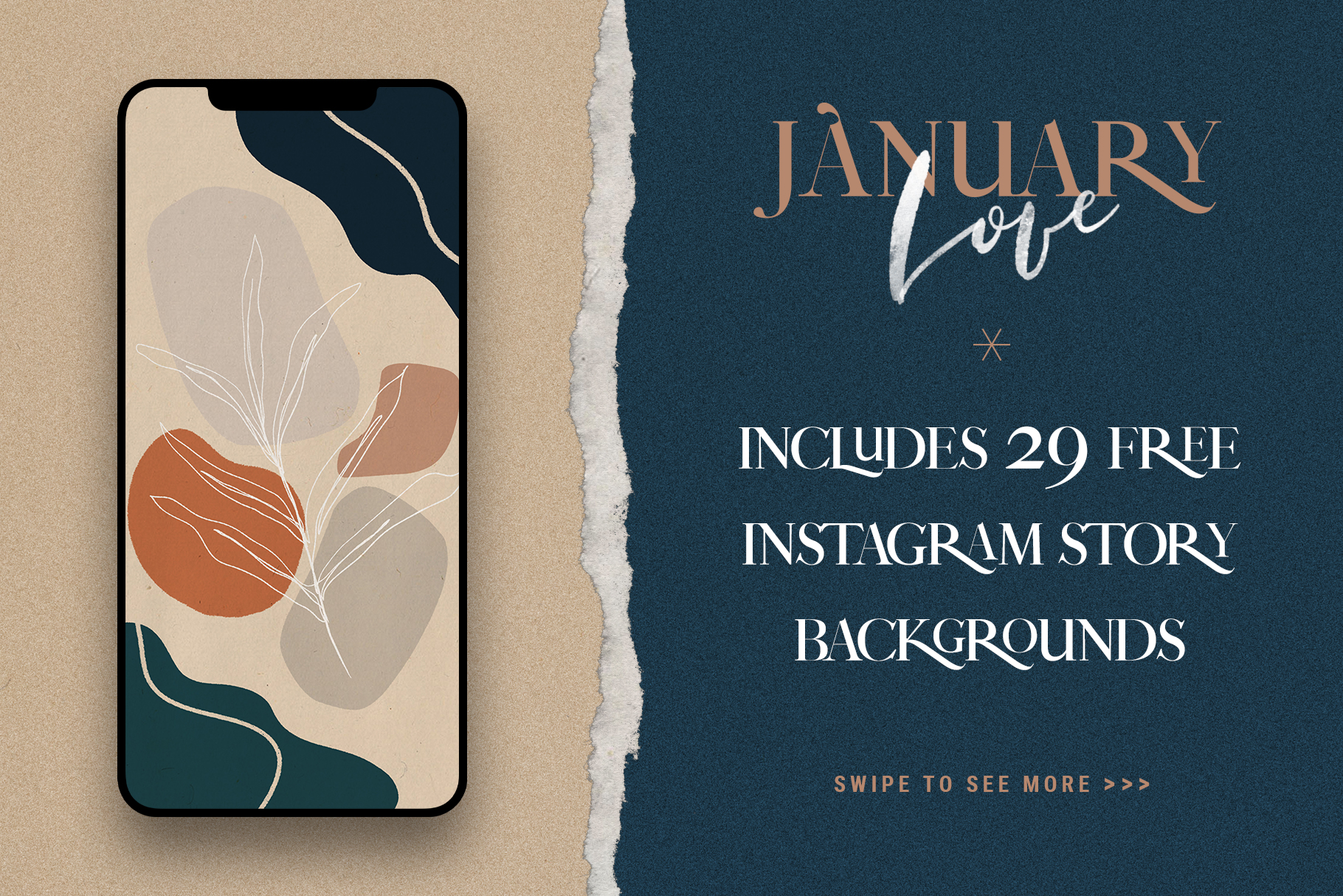 January Love Font Duo With 10 Logos & More Extras example image 28