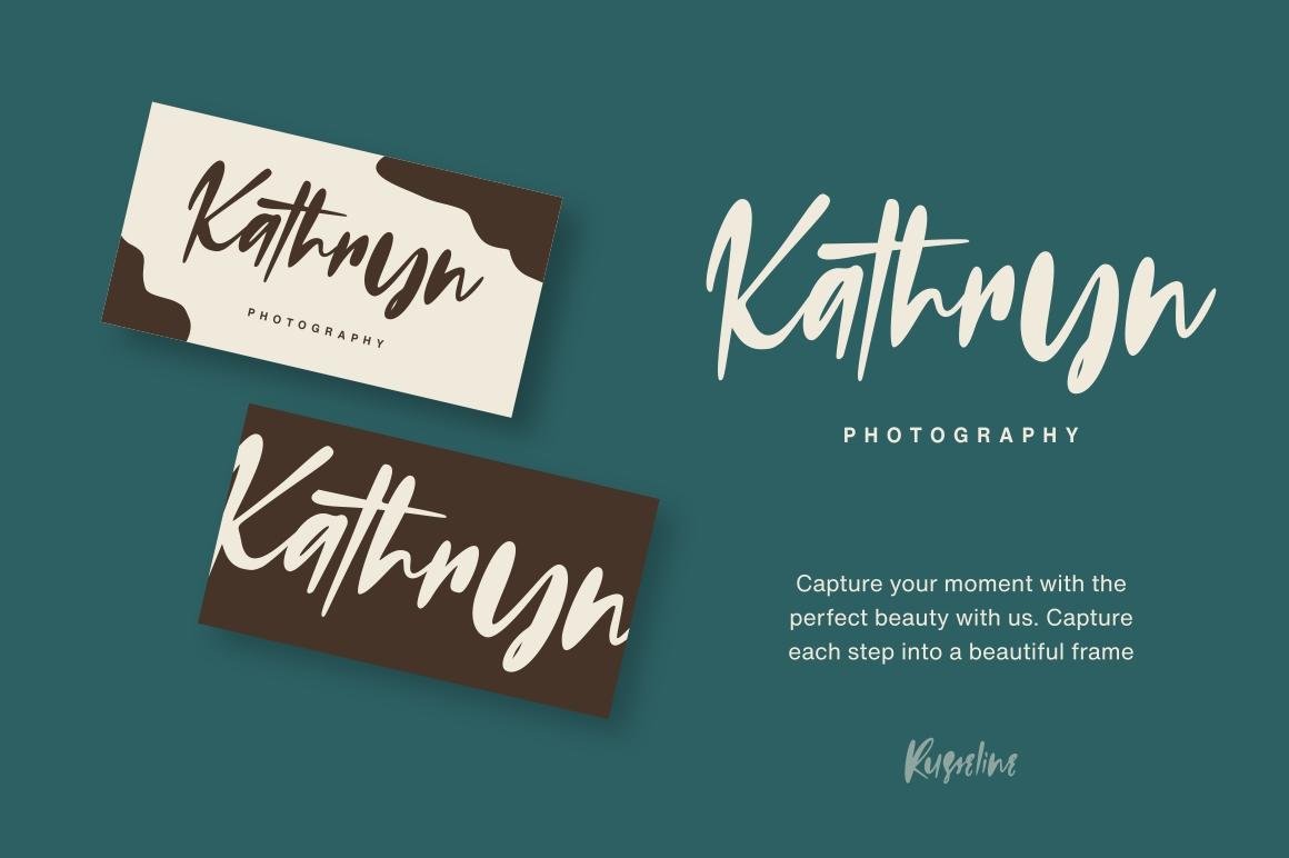 Russeline - Handwritten Font example image 2