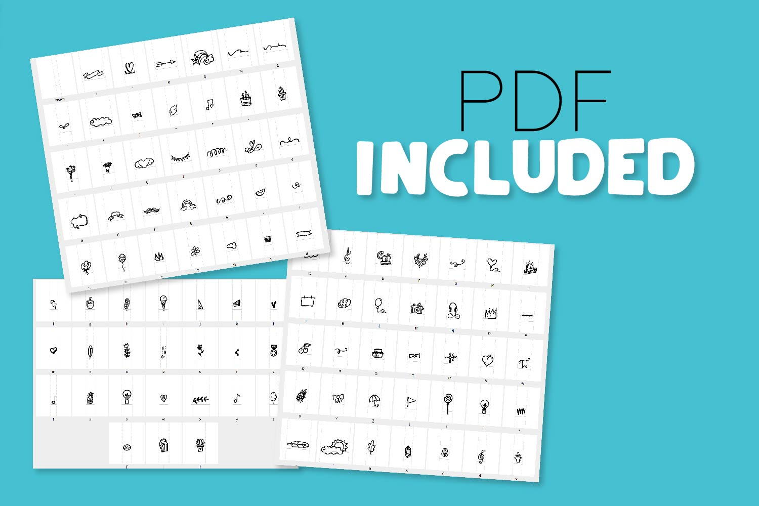 Doodle Font - With over 90 Dingbats! example image 2