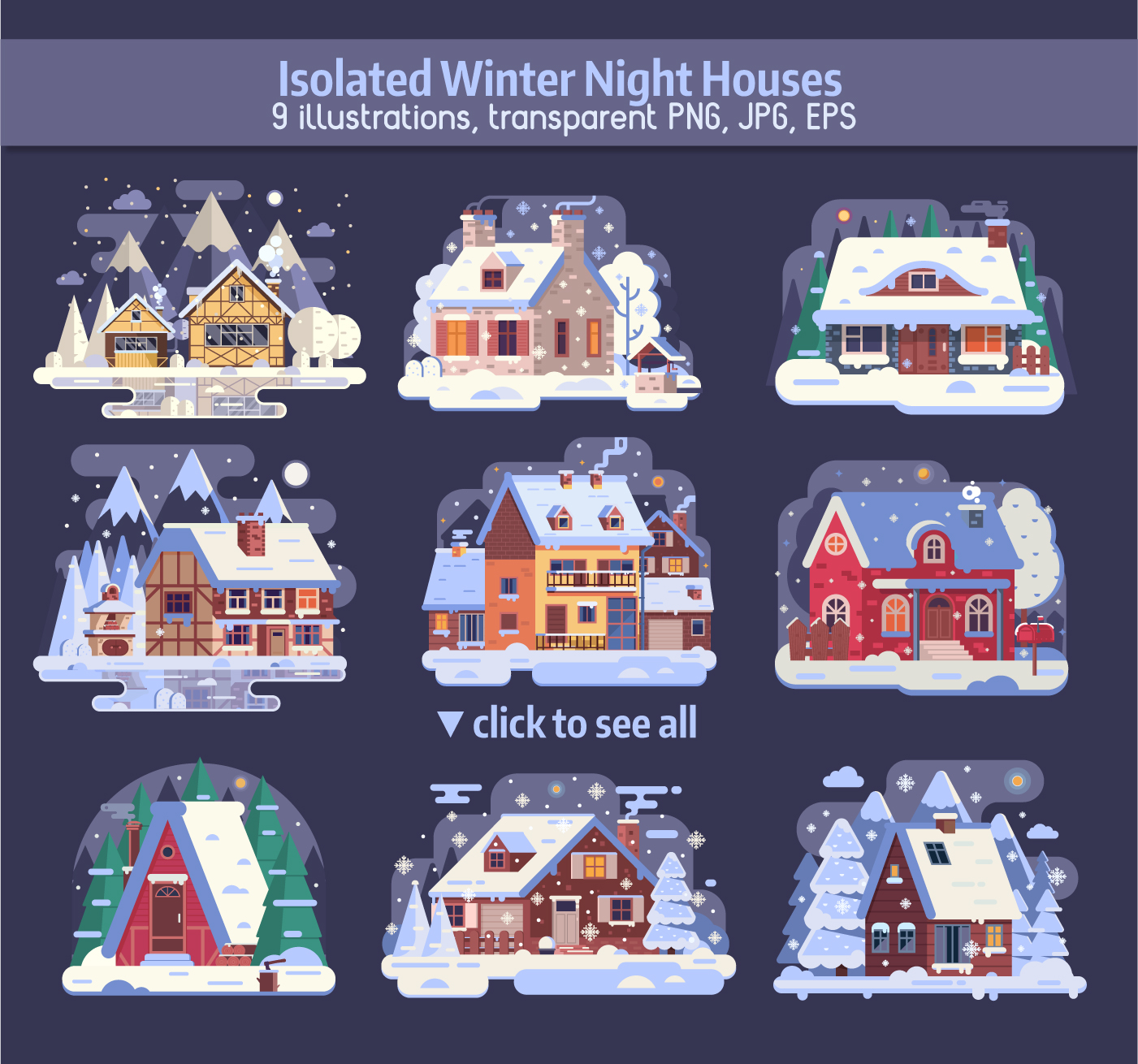 Winter Cozy House Collection example image 2