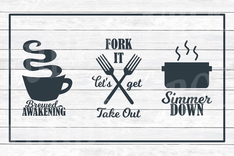 Kitchen Art Design Bundle 1- SVG Cut Files for Crafter example image 4