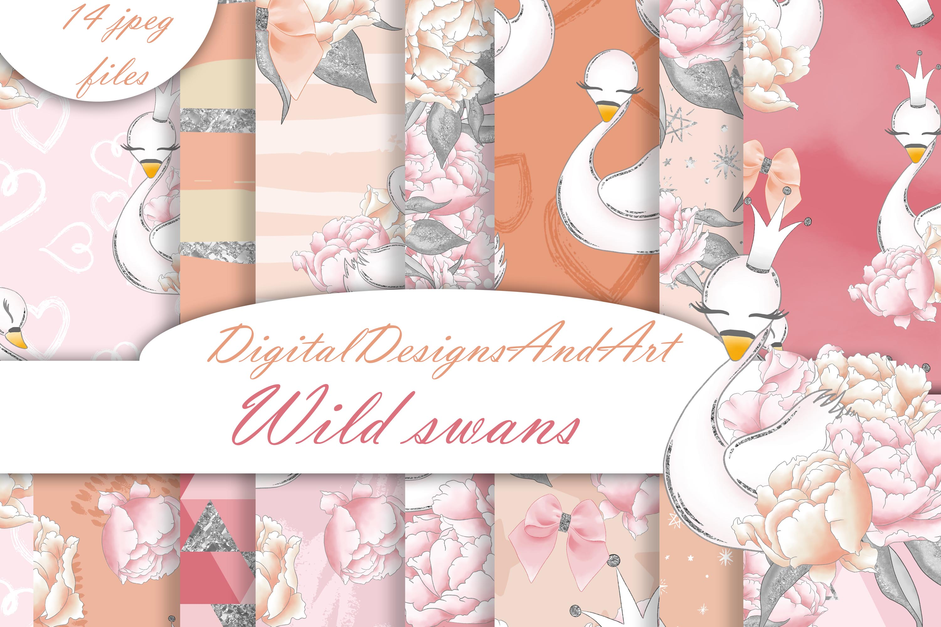 Wild swans patterns example image 1