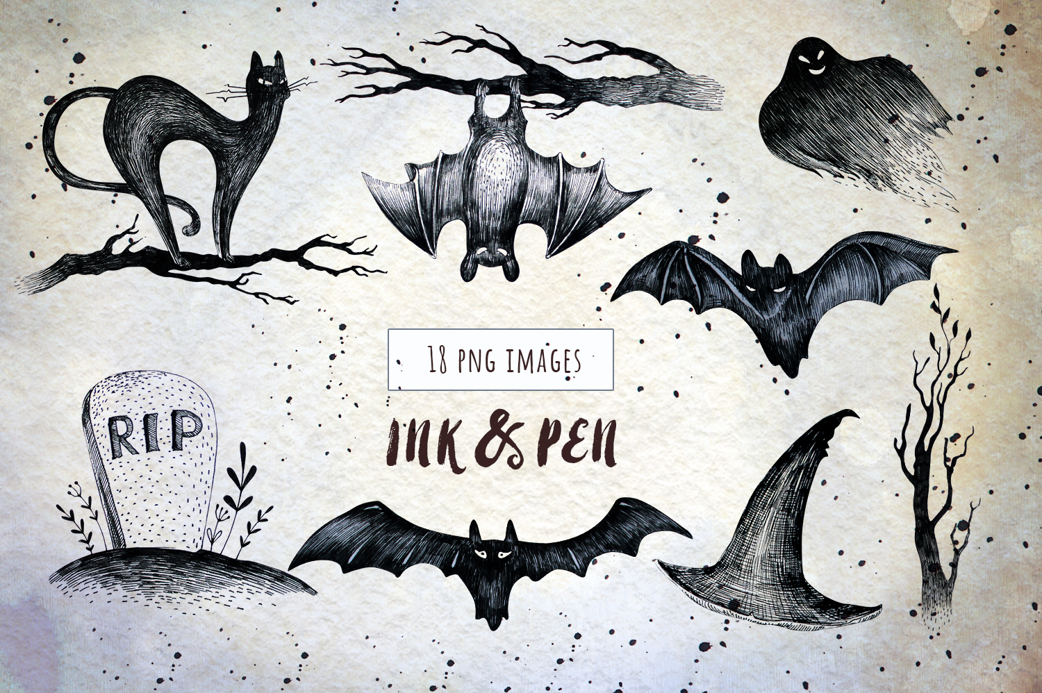 Halloween Ink & Pen Collection example image 3