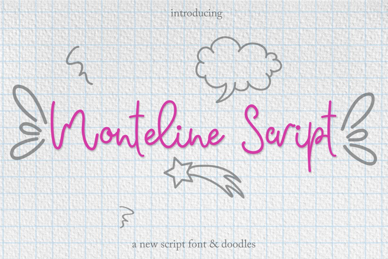 Monteline Script and Doodles example image 1