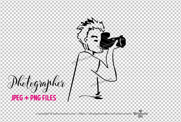 photographer clipart - men holding camera example image 2