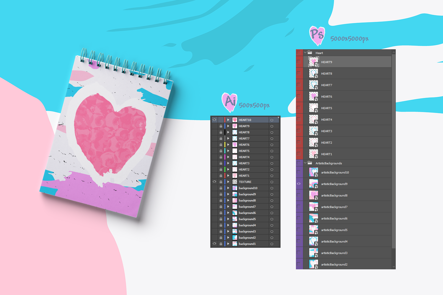 Artistic Love/Backgrounds example image 4
