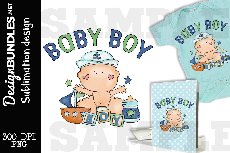 Baby Boy Sublimation Design example image 1