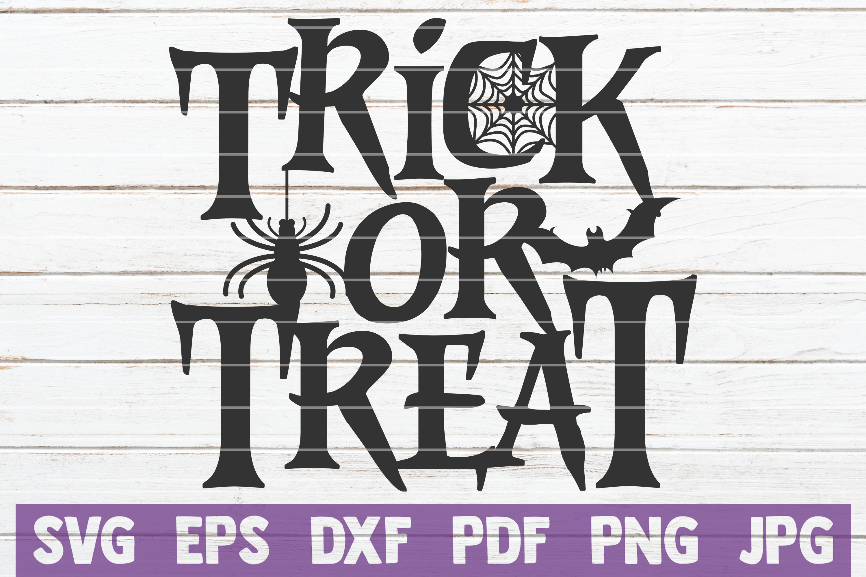 Trick Or Treat SVG Cut File example image 1