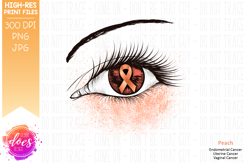 Peach Awareness Ribbon Eye - Printable Design example image 2