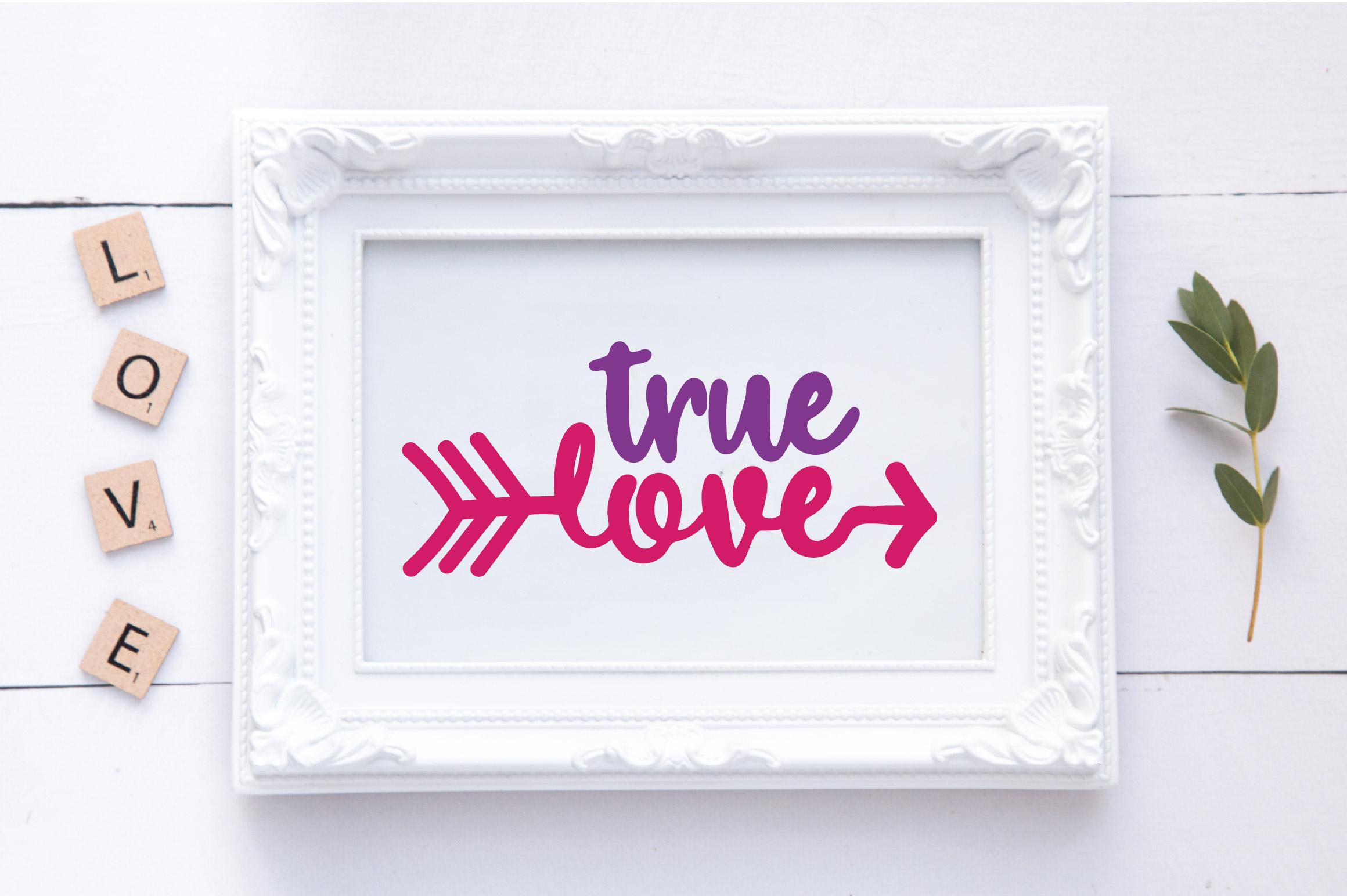 True Love SVG Cut File - Valentine SVG EPS DXF PNG PDF AI example image 2