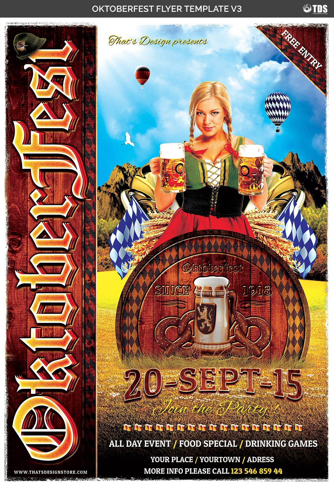 Oktoberfest Flyer Template V3 example image 7
