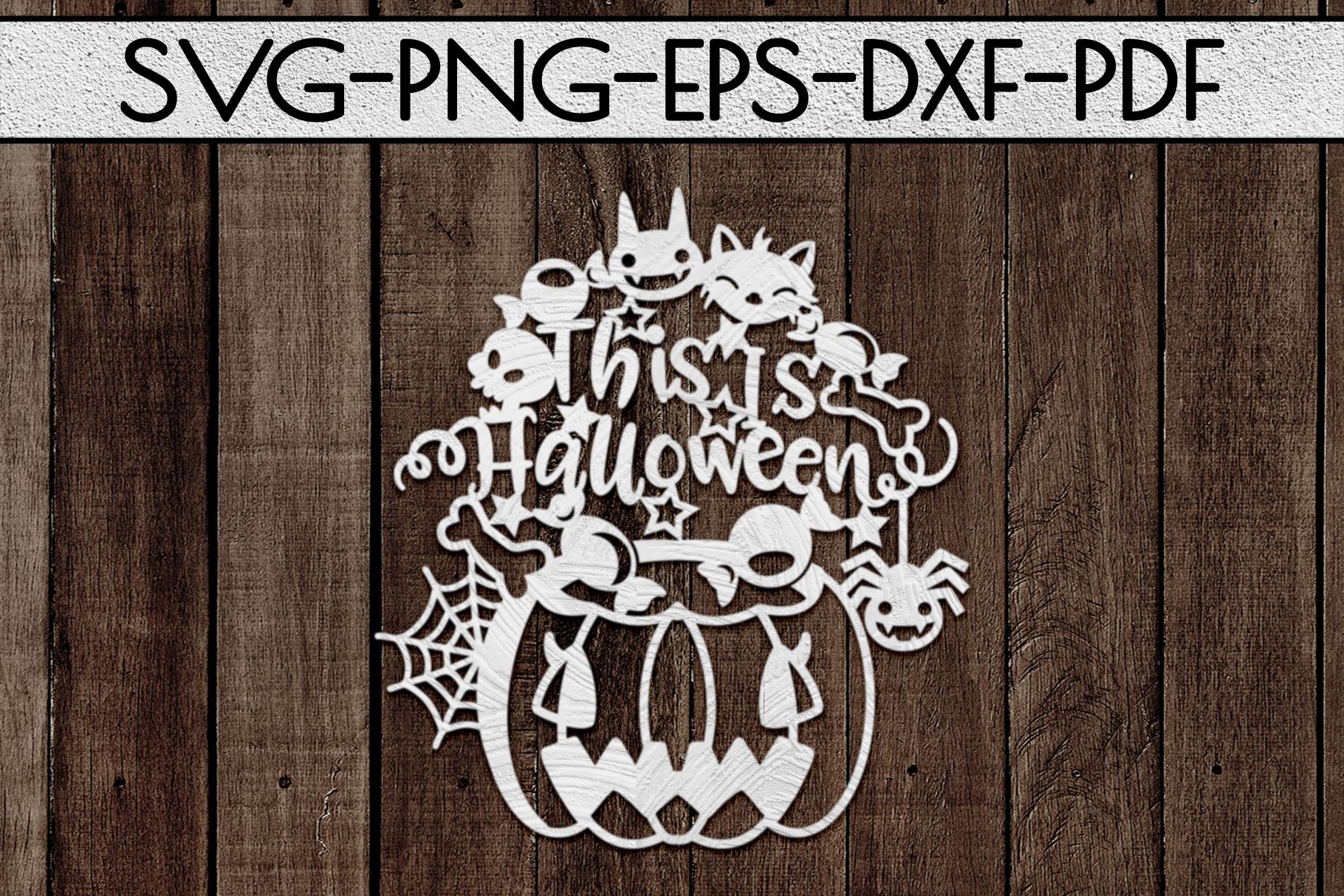 Happy Halloween Papercut Templates Bundle, Spooky, PDF, SVG example image 5