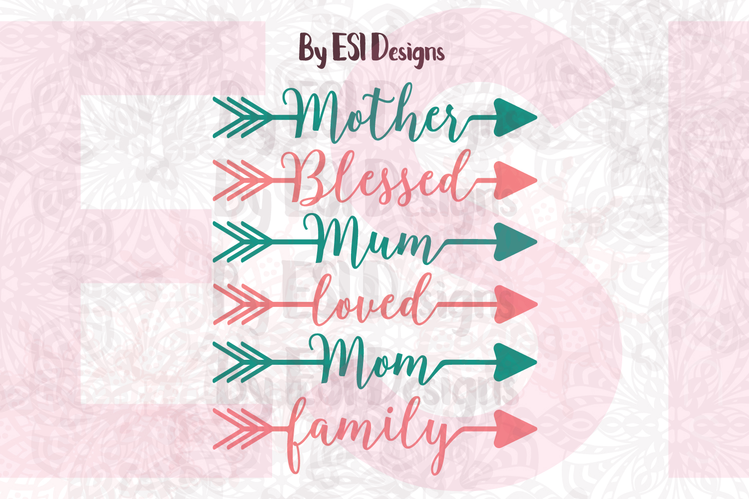 Mother's Day Themed Arrows example image 1