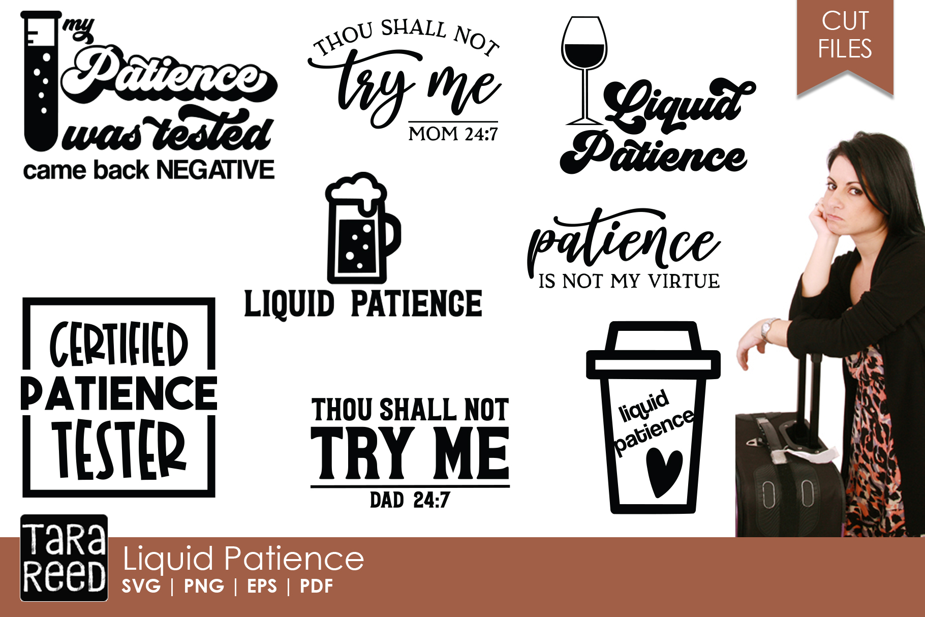 Liquid Patience - SVG and Cut Files for Crafters example image 1