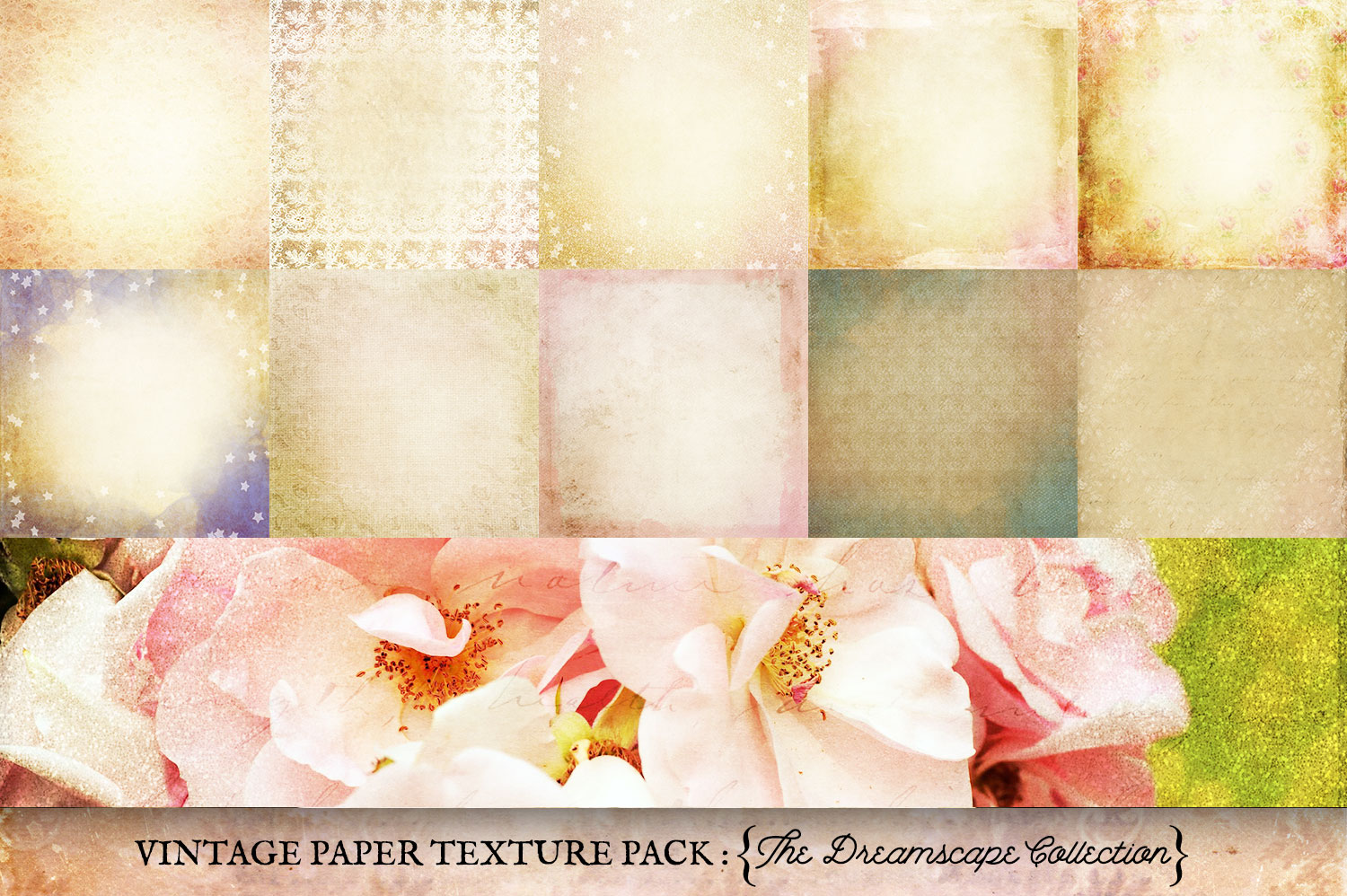 Vintage Paper Textures Dreamscape Collection example image 4