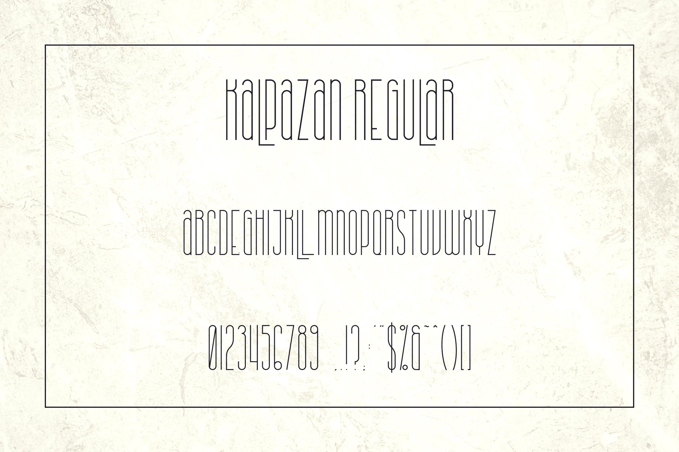 Kalpazan font family example image 9