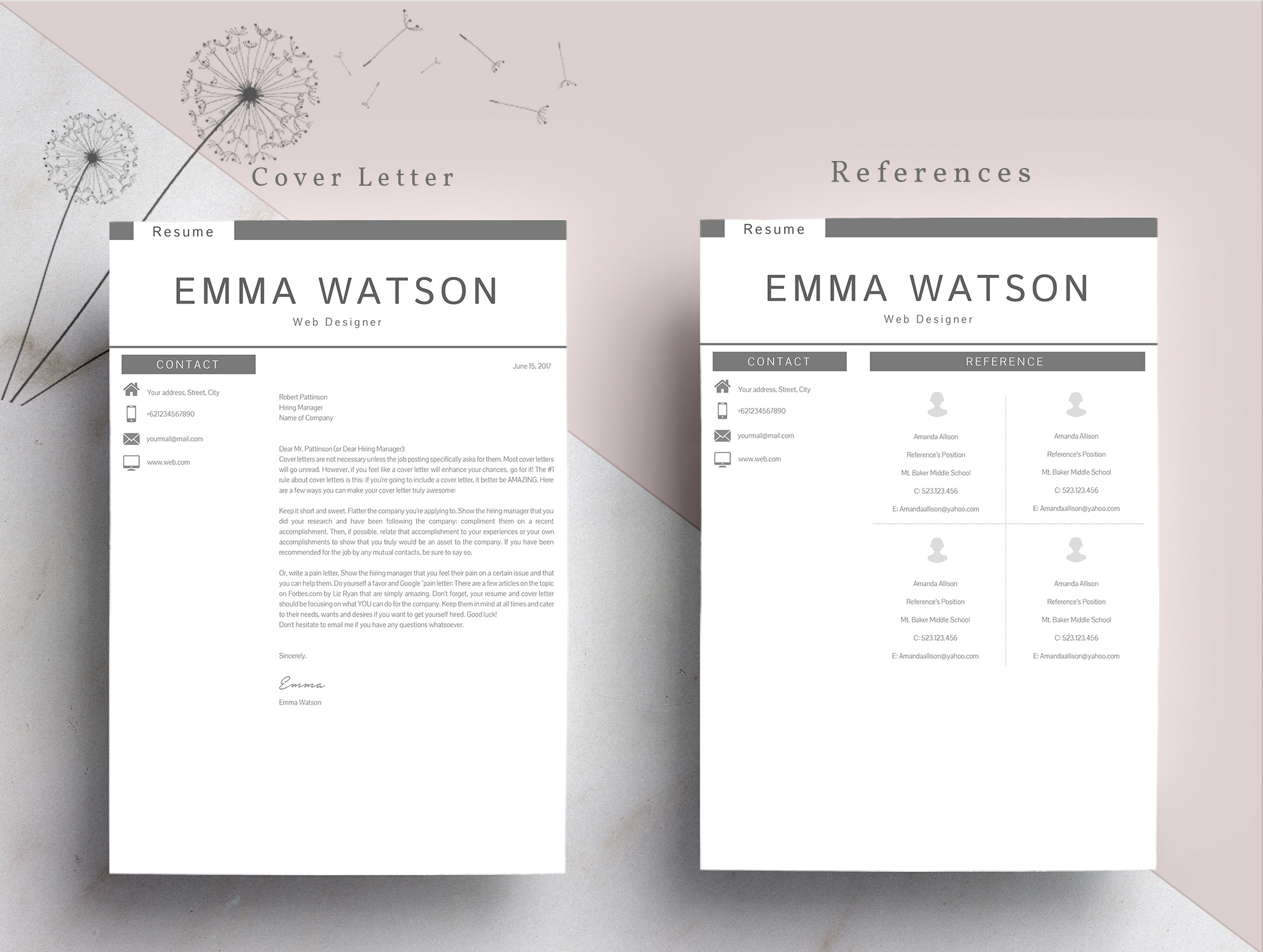 Professional creative Resume Template 4 Pages example image 7