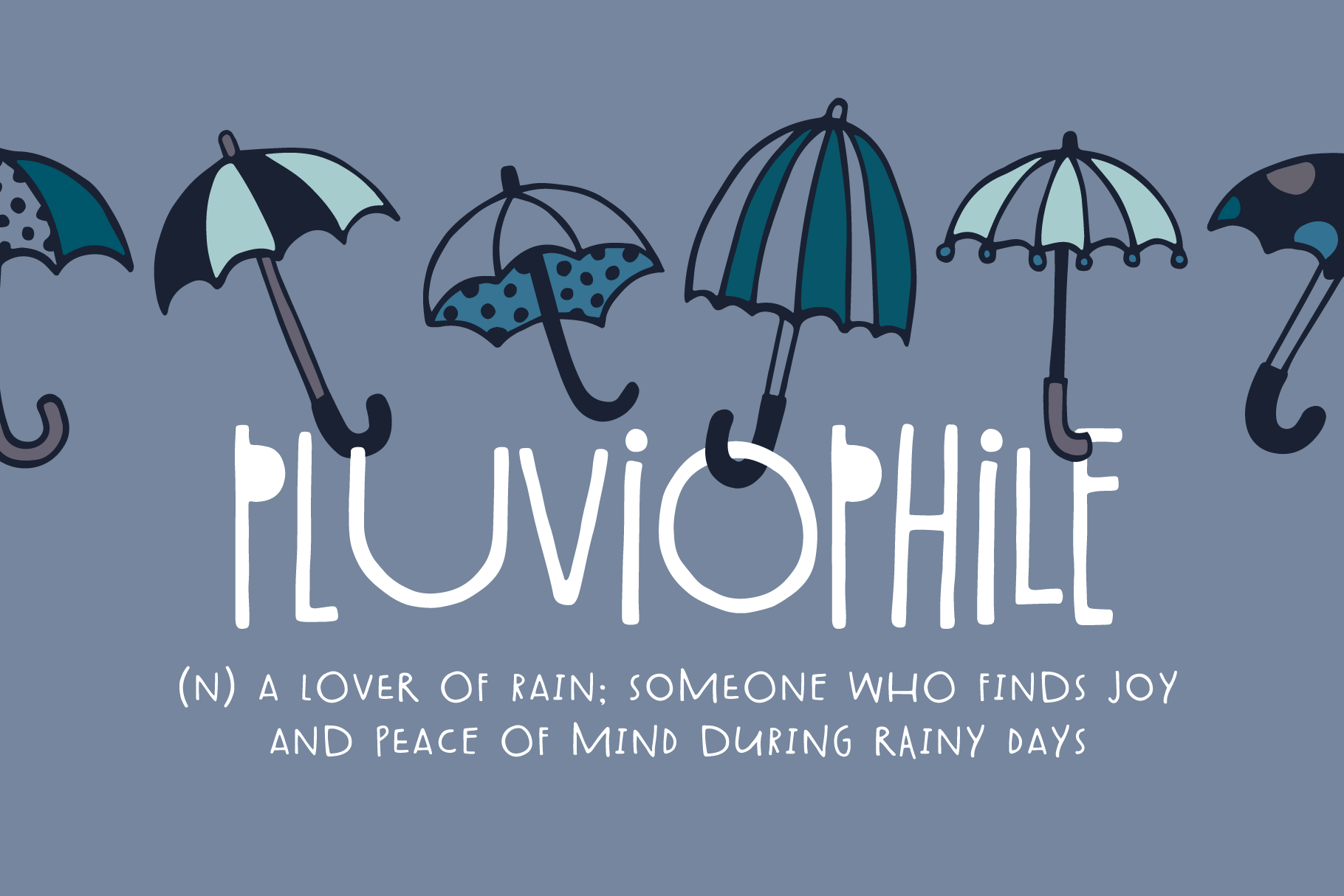 Spring Showers Font and Doodles example image 4