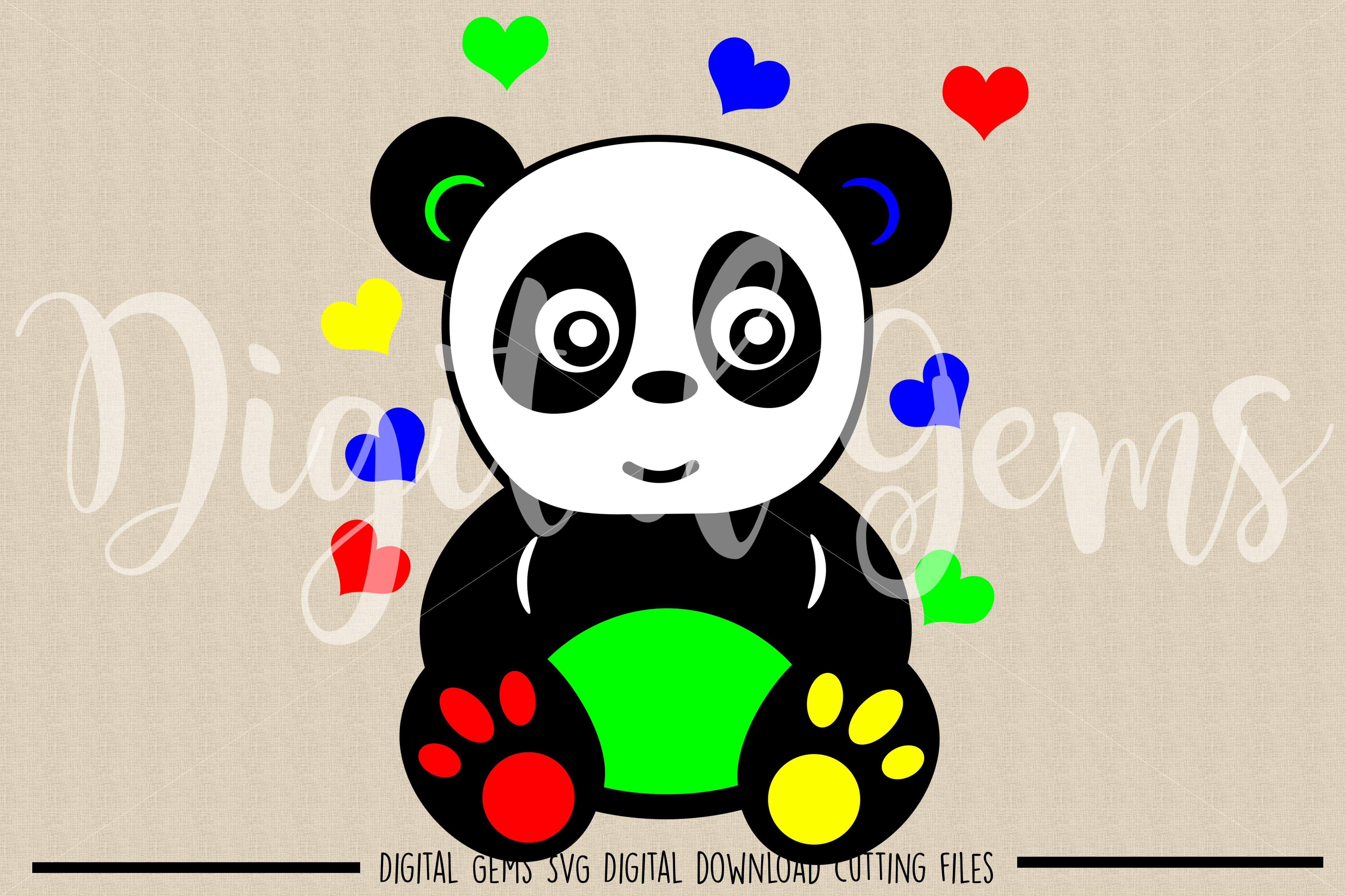 Panda SVG / EPS / DXF / PNG files example image 2