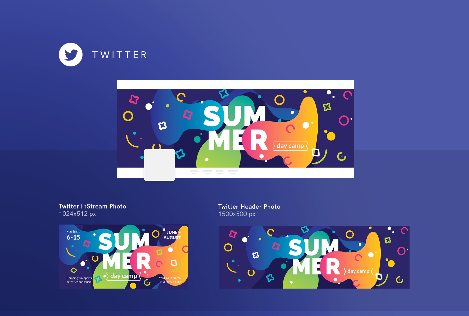 Summer Day Camp Design Templates Bundle example image 16