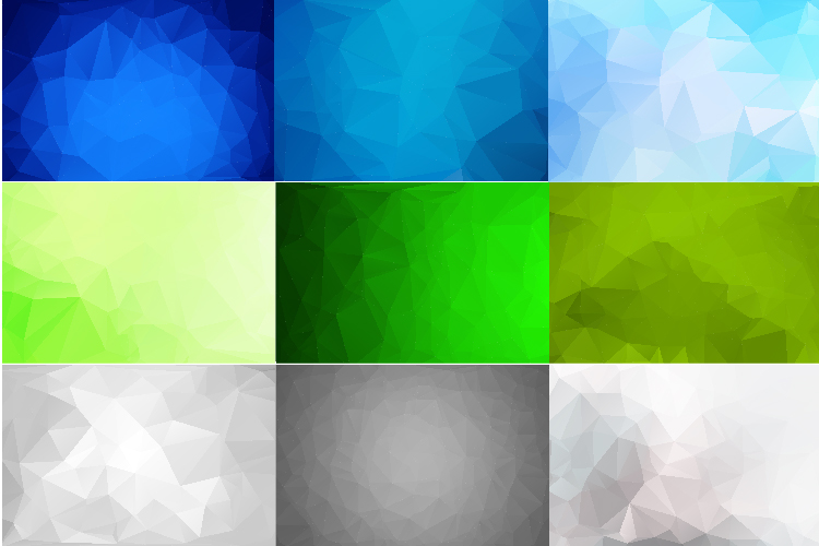 50 IN 1 LOW POLY BACKGROUND BUNDLE 5 COLOR VARIATIONS VECTOR example image 2