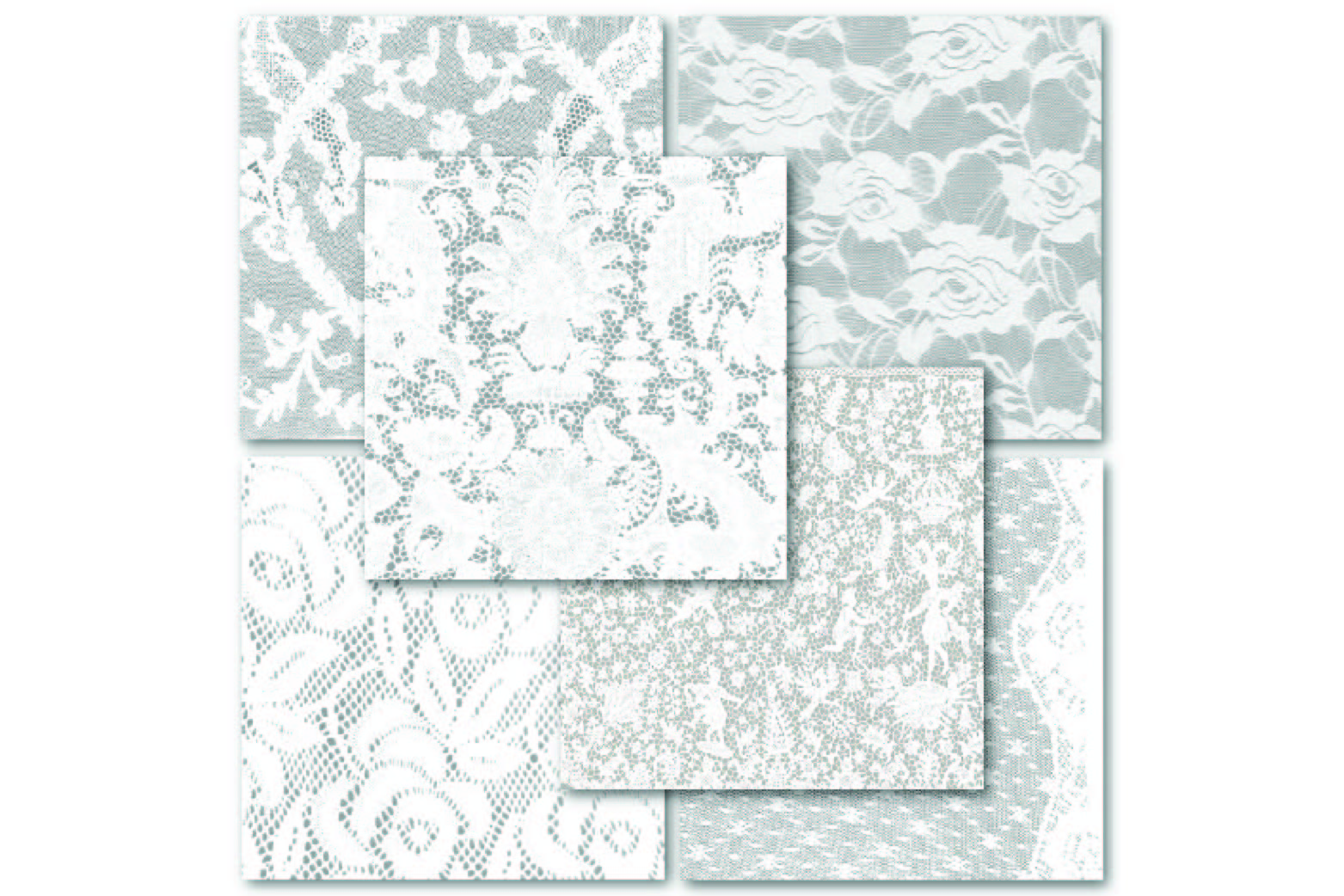 White Lace Digital Paper - Wedding Backgrounds example image 2